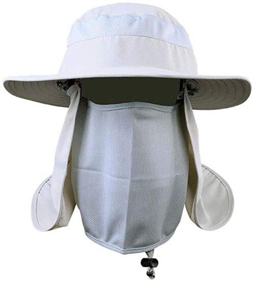 Aokelily Outdoor UV Sun Protection Wide Brim Fishing Cap