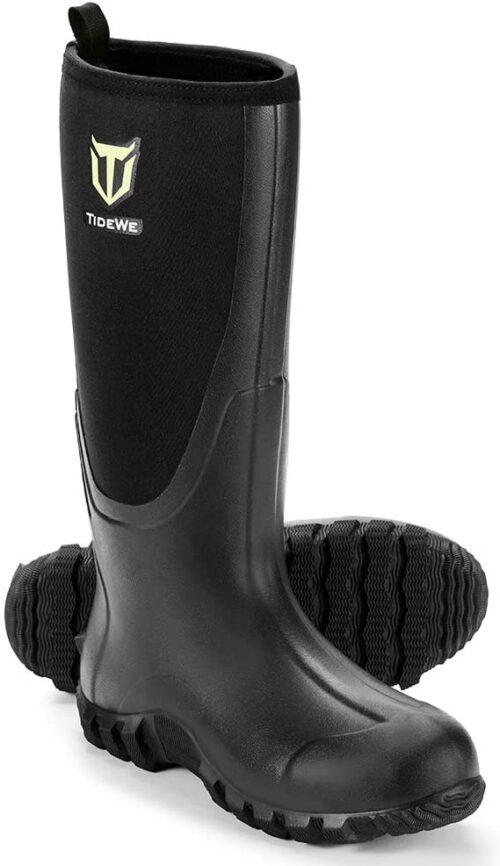 TIDEWE Rubber Boots for Men, Waterproof