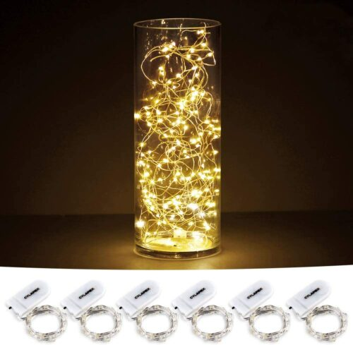 CYLAPEX 6 Pack Fairy Lights Battery