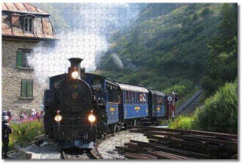 BEI YU Man.co Swiss steam Train Adult Children Furka Jigsaw Puzzle 1000