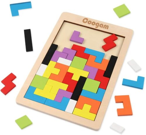 Coogam Wooden Blocks Puzzle Brain Teasers