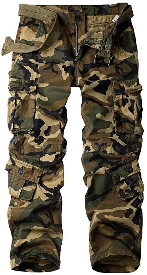 AKARMY Men's Cotton Camo Pants