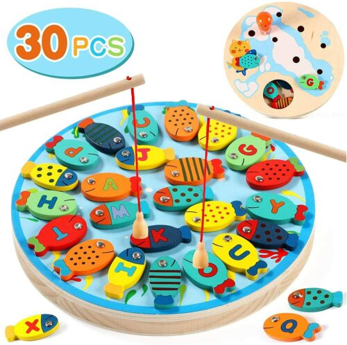 Lewo 30 PCS Magnetic Fishing Game