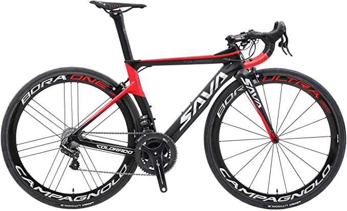 SAVADECK Phantom9.0 700C Carbon Fiber Road Bike Cycling Bicycle with Campagnolo Record EPS 22 Speed