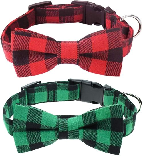 Malier 2 Pack Dog Collar with Bow tie