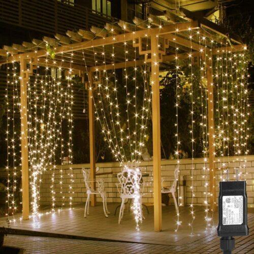 LE LED Curtain Lights, 19.7x9.8ft