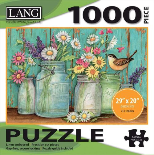 "LANG - 1000 Piece Puzzle -""Mason Flowers"""